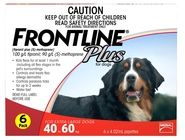 FRONTLINE PLUS for Extra large dog - for dogs weighing 40-60kg 6 Pack
