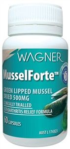 MusselForte 500mg x 60 Caps Green-Lipped Mussels -