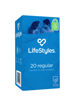 LifeStyles 20 Regular Condoms