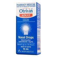 Otrivin Nasal Drops 10ml Adult