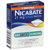 Nicabate CQ Clear Patches 21mg 14 Patches