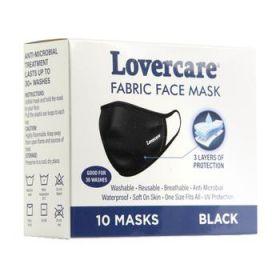Lovercare Fabric Face Mask 10 Black