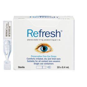 REFRESH EYE DROP VIAL 0.4ML 10