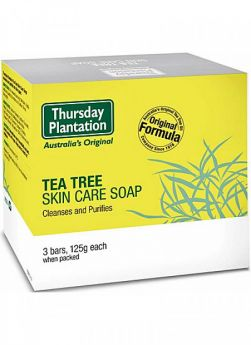 Tea Tree Soap 3 x 125g - TTSO1253 Thursday Plantation