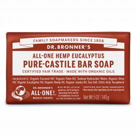 Dr Bronner's Pure-Castile Bar Soap - Eucalyptus