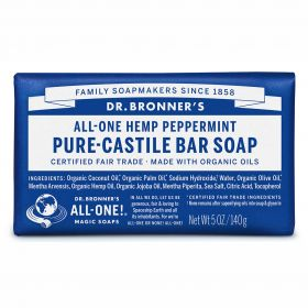 Dr Bronner's Pure-Castile Bar Soap - Peppermint
