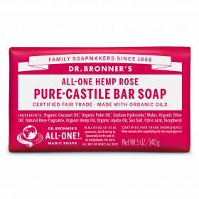 Dr Bronner's Pure-Castile Bar Soap - Rose