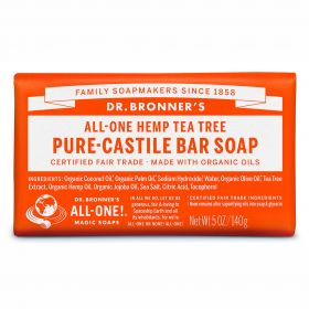 Dr Bronner's Pure-Castile Bar Soap - Tea Tree