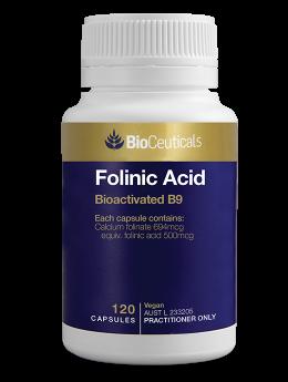 Bioceuticals Folinic Acid 500mg x 120 caps BACK IN STOCK