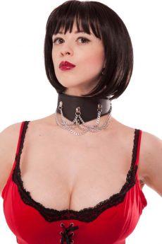 Rapture Leather Collar - RAP  BL-001
