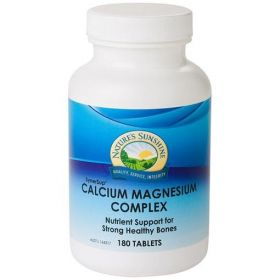 Nature's Sunshine Calcium & Magnesium Complex 180 Tablets - NS17010