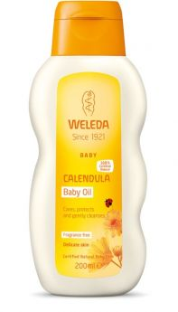 Weleda baby calendula baby oil Fragrance free 200 ml
