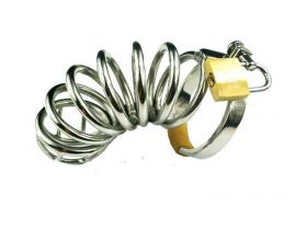 Rapture Stainless Steel Six Ring Cock Cage - RAP  CC-20