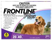 FRONTLINE PLUS for Large dog - for dogs weighing 20-40kg 6 pack