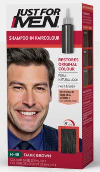 """Just For Men Shampoo Hair Colour """"H45 Dark Brown"""""""