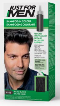 "Just For Men Shampoo Hair Colour ""H55 Real Black"""