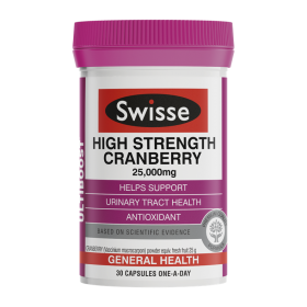 Swisse HIgh Strenght Cranberry 25,000mg X 30 Capsules