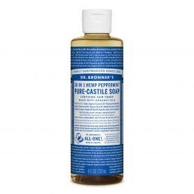 Dr Bronner's Pure-Castile Liquid Soap - Peppermint 237mL