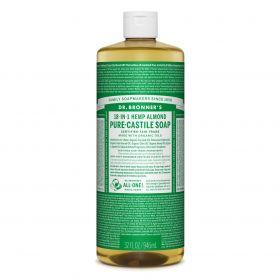 Dr Bronner's Pure-Castile Liquid Soap - Almond 946mL