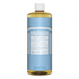 Dr Bronner's Pure-Castile Liquid Soap - Baby Unscented 946mL