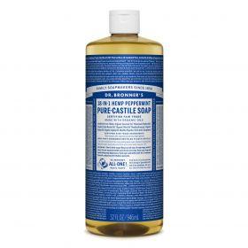 Dr Bronner's Pure-Castile Liquid Soap - Peppermint 946mL