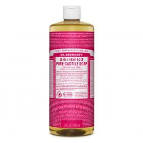 Dr Bronner's Pure-Castile Liquid Soap - Rose 946mL