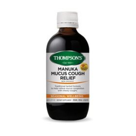 Thompson's Manuka Mucus Cough Relief 200ml - TMMCMCR