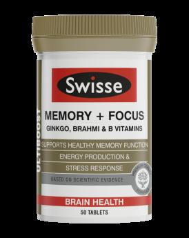 Swisse Ultiboost Memory + Focus X 50 Tablets