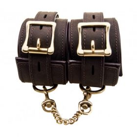 Bound Leather Wrist Cuffs - LWC