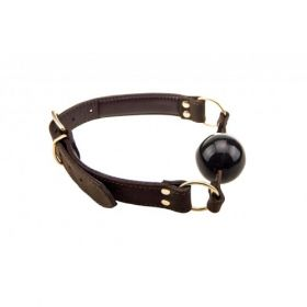 Bound Leather Solid Ball Gag - LBG