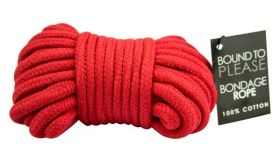 Bound to Please Bondage Rope Red - N8389