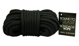 Bound to Please Bondage Rope Black - N8390