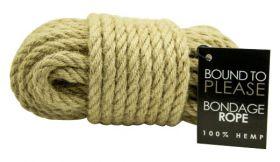 Bound to Please Bondage Rope Hemp - N8391