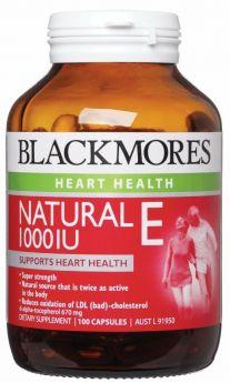 Blackmores Natural E 1000IU X !00Capsules