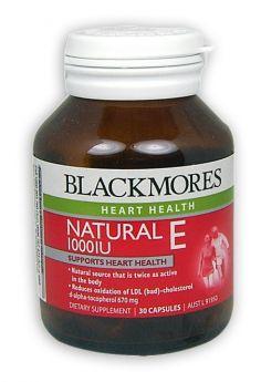 Blackmores Natural E 1000IU 30 Capsules
