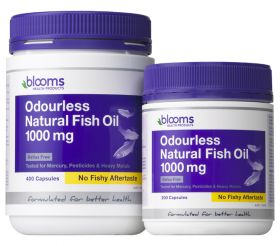 Blooms Omega 3 ODOURLESS Natural Fish Oil X 400 Caps