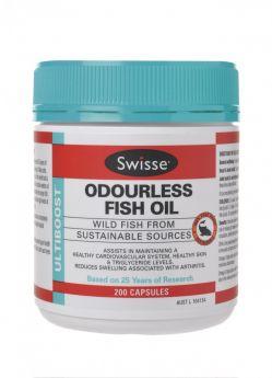 Swisse Ultiboost Odourless Fish Oil x 200 Caps