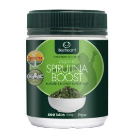 Lifestream Organic Spirulina Boost 500mg 500 Tabs - LMOSB5500