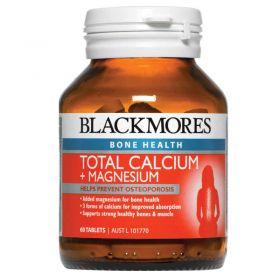 Blackmores Total Calcium + Magnesium + D3 60 Tablets