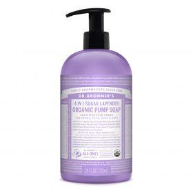 Dr Bronner's Organic Pump Soap - Lavender 710mL