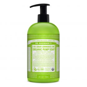 Dr Bronner's Organic Pump Soap - Lemongrass Lime 710mL