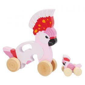 Sunnylife - Push N' Pull Toy Cockatoo