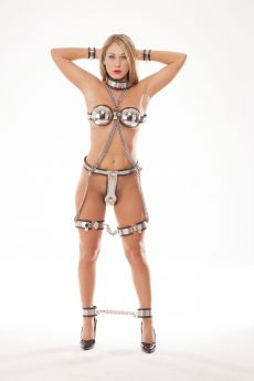 Rapture Stainless Steel Female Bondage Suite - Small   (9 piece set) - RAP  SCT-06S
