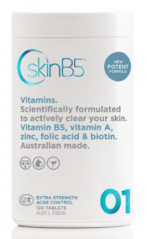 Skin B5 Extra Strength Acne Control Vitamins 120 Tablets