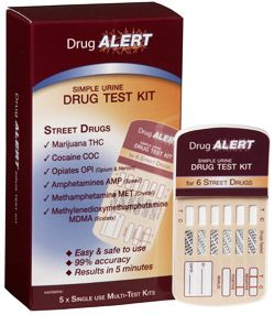 Drug Alert Street (Illicit) Drug Urine Test Kits x 5 Tests