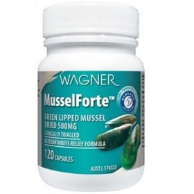 MusselForte 500mg x 120 caps Green-Lipped Mussels
