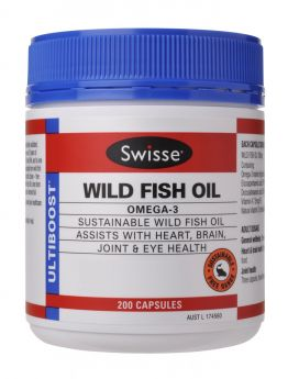 Swisse Ultiboost Wild Fish Oil x 200 Caps